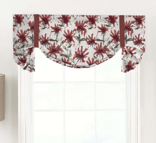 Kendal (Abstract Modern Florals) Tailed Balloon Valance