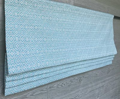 Kennedy (Turquoise or Navy) Faux Roman Shade Valance