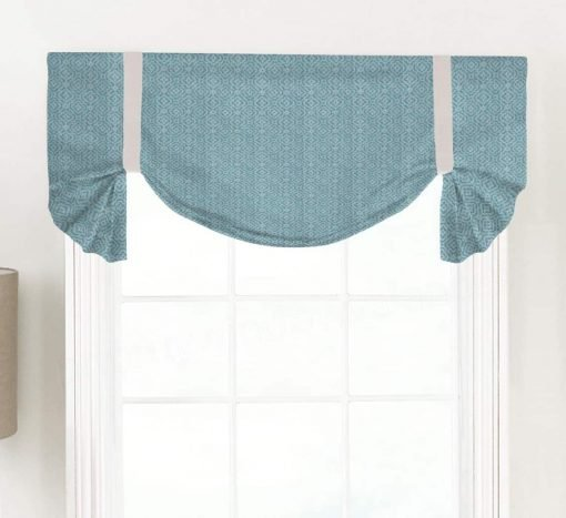 Kennedy (Turquoise or Navy) Tailed Balloon Valance