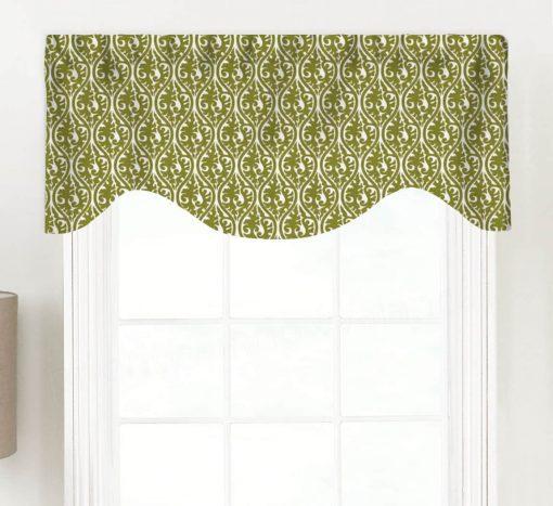 Kimono (Floral Arabesque) Shaped Valance Curtain