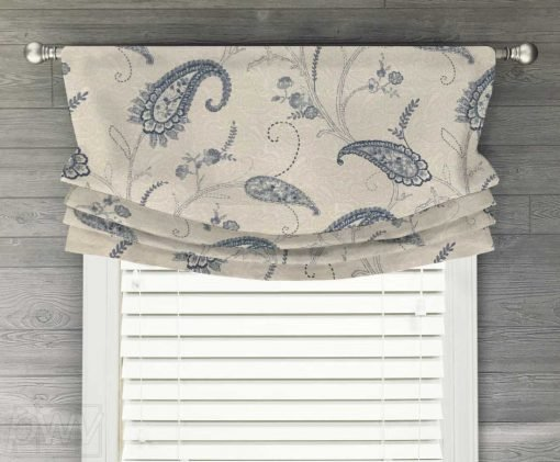 Matelasse Paisley (Quilted) Faux Relaxed Roman Balloon Valance