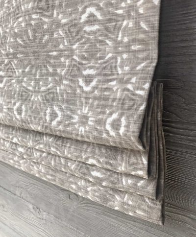 Miguel (Neutral Geometric Diamond) Faux Roman Shade Valance