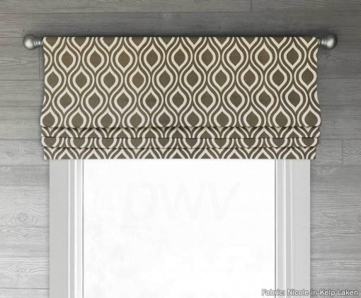 Nicole (Classic Ogee Pattern) Faux Roman Shade Valance