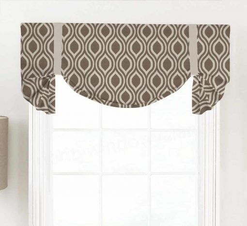 Nicole (Classic Ogee Pattern) Tailed Balloon Valance