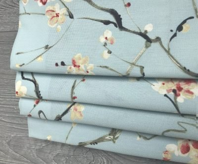 Nonomi (Floral in Robins Egg Blue) Faux Roman Shade Valance
