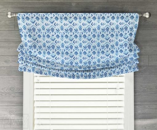 Old Stone Faux Relaxed Roman Balloon Valance