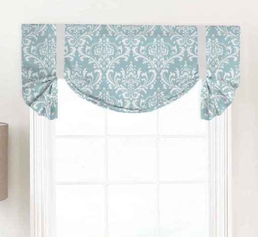 Ozbourne (Damask Print) Tailed Balloon Valance