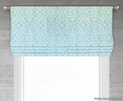 Ramey (Lattice Medallion) Faux Roman Shade Valance