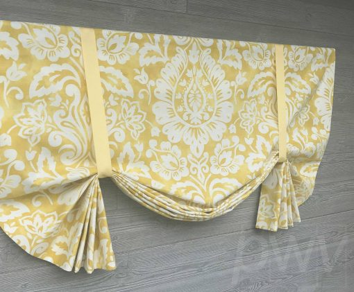 Revello (Colorful Floral Medallion) Tailed Balloon Valance