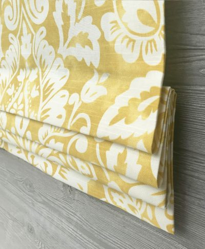 Revello (Colorful Floral Medallion) Faux Roman Shade Valance