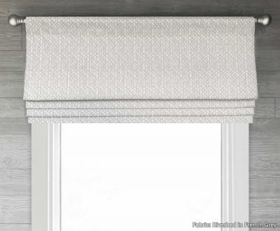 Riverbed (Small Modern Pattern) Faux Roman Shade Valance