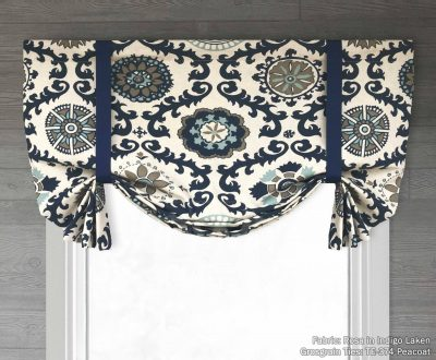 Rosa (Floral Scrolls) Tailed Balloon Valance