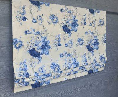 Sanctuary Rose (Traditional Cabbage Rose) Faux Roman Shade Valance