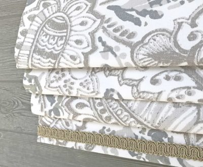 Shannon (Modern Paisley) Faux Roman Shade Valance