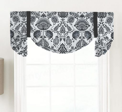 Silas (Modern Floral) Tailed Balloon Valance