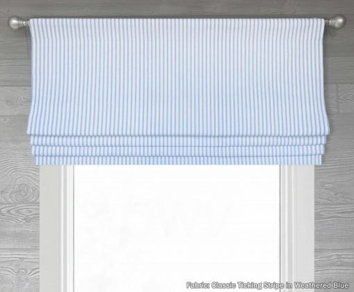 Classic (Country Ticking Stripe) Faux Roman Shade Valance
