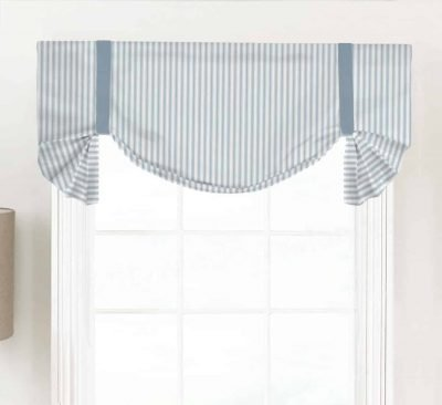 Classic (Country Ticking Stripe) Tailed Balloon Valance