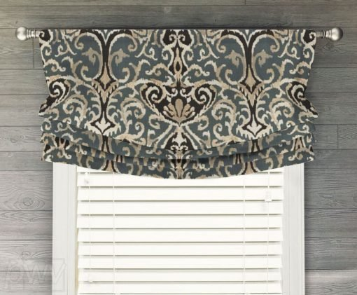 Winchester Ikat Faux Relaxed Roman Balloon Valance