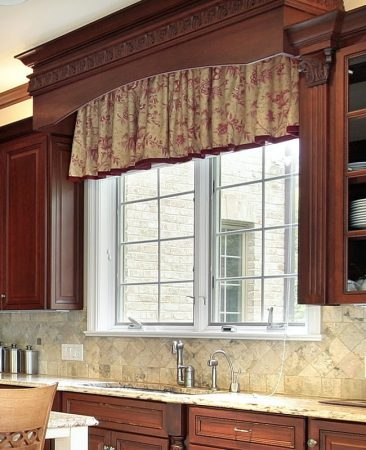 Wood Cornice Over Kitchen Valance