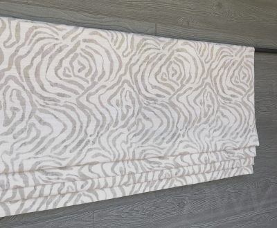 Zephyr (Abstract Print in Blue or Neutrals) Faux Roman Shade Valance